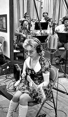 Carole Kaye in the studio