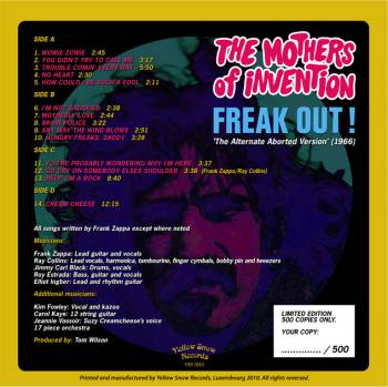 Zappa Com View Topic The Alternate Freak Out