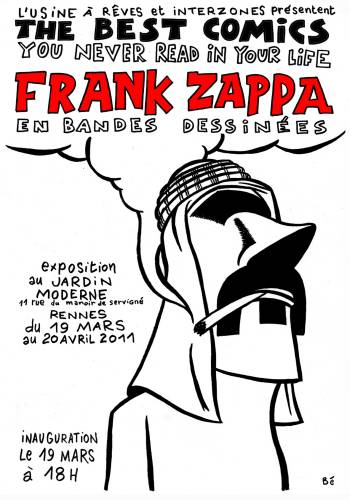 Frank zappa ref wereonlyinitforthecomics for Jardin moderne rennes
