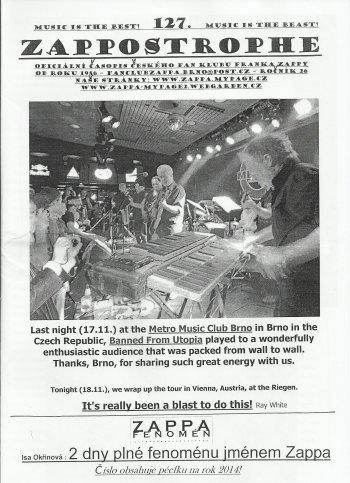 Frank Zappa Fanzine Zappostrophe101